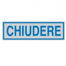 Targhetta Adesiva 165X50Mm Chiudere (conf.10)
