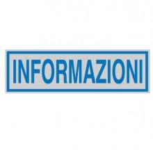 Targhetta Adesiva 165X50Mm Informazioni (conf.10)