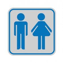 Targhetta Adesiva 82X82Mm Con Pittogramma Toilette Uomo/Donna (conf.10)