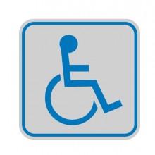 Targhetta Adesiva 82X82Mm Con Pittogramma Toilette Disabili (conf.10)