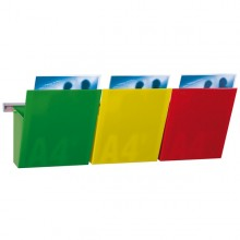 Kit Vision Kanban L75Cm Con 3 Tasche A4 Colorate