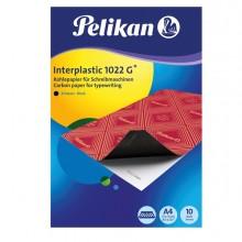 Carta Carbone Nero Interplastic 1022G 10Fg 21X31Cm Pelikan