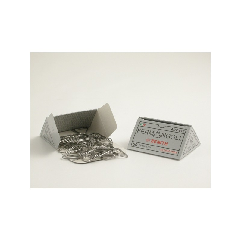Scatola 50 Fermangoli Zenith 815 Acciaio Inox 100