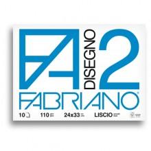 ALBUM P.M. FABRIANO2 (24X33CM) 10FG 110GR LISCIO (conf. 10 )