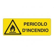 Cartello Alluminio 35X12,5Cm 'Pericolo Di Incendio'
