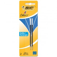 Blister 2 Refills Blu Per Bic4 Colors Pen Desk 1,0