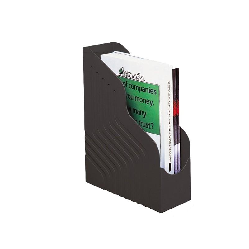 Portariviste Magazine Rack Jumbo 25X32Cm Dorso 10Cm Nero Rexel