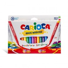 Scatola 20 Pennarelli Magic Markers Colori Assortiti Carioca