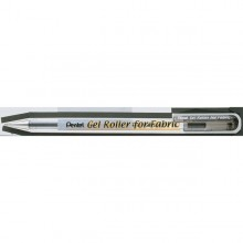 Roller gel per tessuto 1,0mm inchiostro permanente nero PENTEL (conf. 12 )
