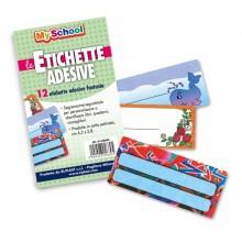 Etichette Adesive Segnanomi Bustina 12 Etichette 6,3X8Cm Fantasie Assortite