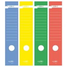 Busta 10 Copridorso Cdr-C Carta Adesiva Giallo 7X34,5Cm Sei Rota