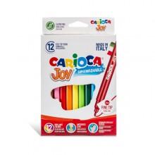 Scatola 12 Pennarelli Joy Lavabili Colori Assortiti Carioca