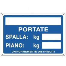 Cartello Alluminio 30X20Cm 'Portate: Spalla / Piano'