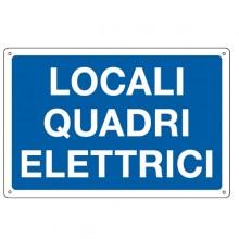Cartello Alluminio 30X20Cm 'Locale Quadri Elettrici'