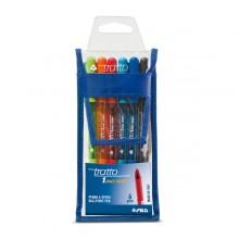Busta 6 Penna Sfera Tratto 1Grip 1,0Mm Colori Assortiti