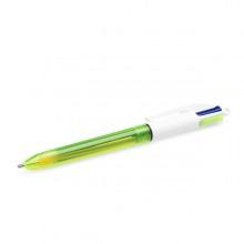Scatola 12 Penna Sfera Scatto 4Colori Fluo Bic