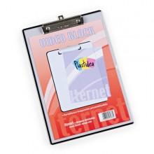 Portablocco A4 Personalizzabile In Ppl Trasparente Con Molla In Metallo