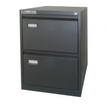 Classificatore Kubo 2 Cassetti Per Cart. Sospese Nero H 70Cm