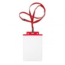 10 Portanome Pass 6S-P 10X15Cm (A6) Rosso Con Cordoncino Rosso