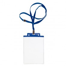 10 Portanome Pass 6S-P 10X15Cm (A6) Blu Con Cordoncino Blu