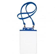 10 Portanome Pass 7St-M 15X21Cm (A5) Blu Con Cordoncino Blu