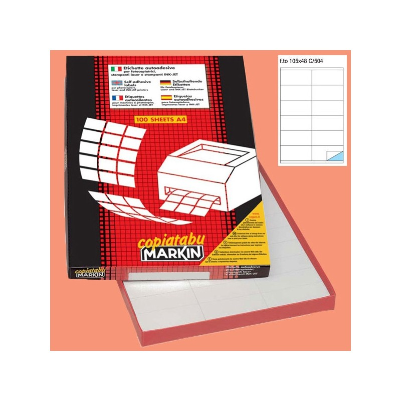 Markin 39227 Etichetta adesiva A//456 bianca 100fg 100x17mm 30et//fg