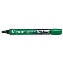 MARCATORE PERMANENTE 100 VERDE P.TONDA 4.5MM PILOT (conf. 12 )