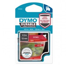 Nastro Dymo Tipo D1 Durable (12Mmx3Mt) Bianco/Rosso 1978366