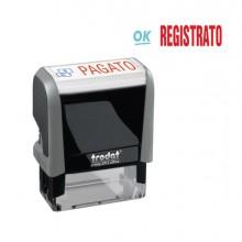 "Timbro Printy Office Eco 47X18Mm ""Registrato"" Trodat"