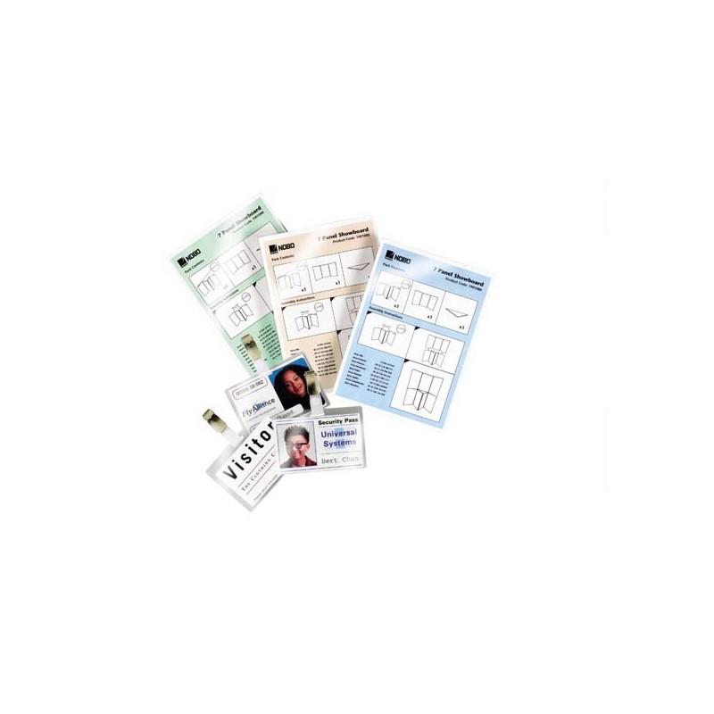 Scatola 100 Pouches 2X125Mic 81X119Mm Swiss Card Gbc