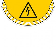 """Adesivo Segnalatore Da Terra """"Rischio Elettrico"""" 70X35Cm Take Care Cep"""