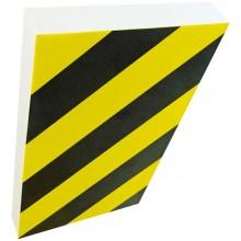 Paracolpi A Foglio In Gomma Nbr L100 X H150Cm Giallo/Nero