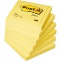 BLOCCO 100fg Post-it®Giallo Canary 76x76mm 654 (conf. 12 )