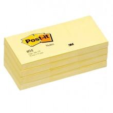 BLOCCO 100fg Post-it®Giallo Canary 38x51mm 653 (conf. 12 )