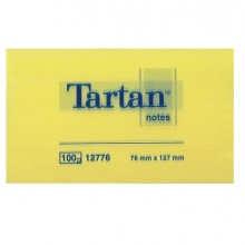 BLOCCO TARTAN 12776 GIALLO 76X127MM 100FG 63GR (conf. 12 )