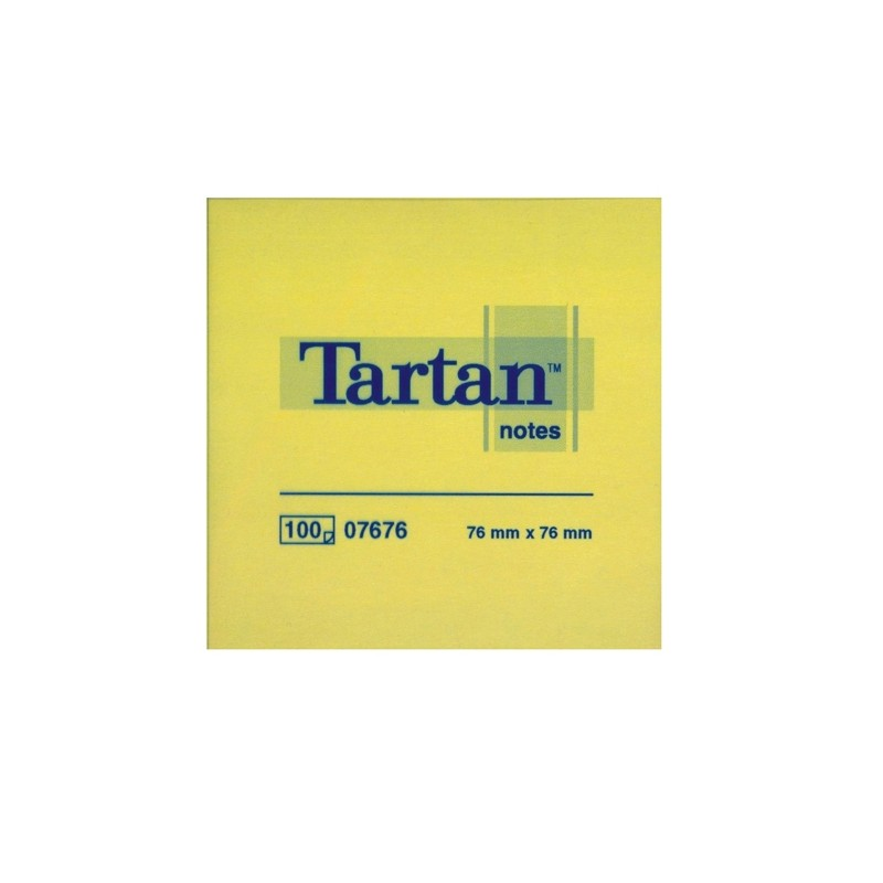 BLOCCO TARTAN 7676 GIALLO 76X76MM 100FG 63GR (conf. 12 )