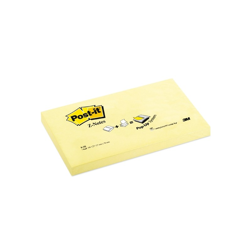 BLOCCO 100fg Post-it®Super Sticky Z-Notes R350 Giallo Canary™ 76x127mm (conf. 12 )