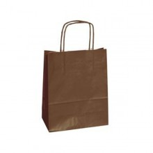 25 shoppers carta kraft 14x9x20CM twisted marrone