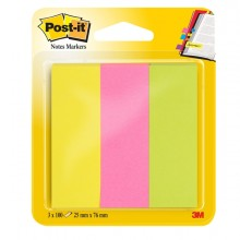 Segnapagina Post-It 671-3 (300Fg) 3Colori Index 25X76Mm In Carta