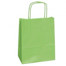 25 shoppers carta kraft 14x9x20cm twisted verde mela