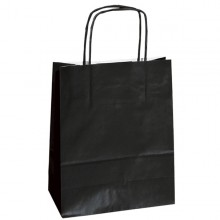 25 shoppers carta kraft 14x9x20cm twisted nero