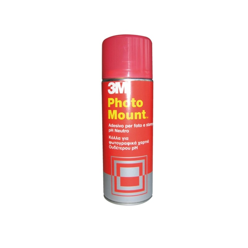 Adesivo Spray 3M Photo Mount Alta Qualita' - Trasparente 400Ml