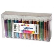 Glitter 50 Flaconi Grana Fine 12Ml Colori Assortiti Cwr