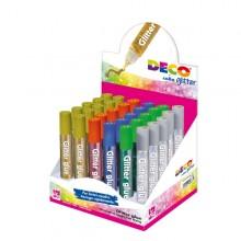 Display Colla Glitter 30 Penne 10,5Ml Colori Assortiti Metal Cwr