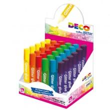 Display Colla Glitter 30 Penne 10,5Ml Colori Assortiti Pastello Cwr