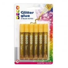 Blister Colla Glitter 6 Penne 10,5Ml Oro Cwr