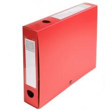 Scatola Archivio Box Con Bottone Rosso F.To 25X33Cm D 60Mm Exacompta