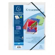 Cartellina Personaliz. In Pp C/Elastico Bianco Trasparente 24X32Cm Kreacover