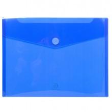 Busta A Tasca Con Velcro In Pp Blu Trasparente F.To 24X32Cm Per A4 Exacompta (conf.5)
