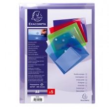 Busta A Tasca Con Velcro In Pp Colorato F.To 24X32Cm Per A4 Exacompta (conf.5)